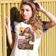 Camiseta Raglan Feminina Anitta Tem Que Arriscar