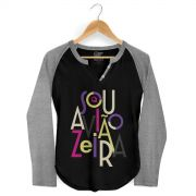 Camiseta Raglan Feminina Aviões do Forró Sou Aviãozeira