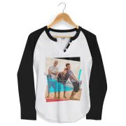 Camiseta Raglan Feminina Banda Fly Foto Colors