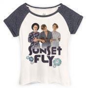 Camiseta Raglan Feminina Banda Fly Sunset Photo