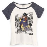 Camiseta Raglan Feminina Batgirl Selfie