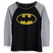 Camiseta Manga Longa Feminina Batman Logo Cl�ssico
