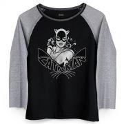 Camiseta Manga Longa Feminina Catwoman