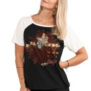 Camiseta Raglan Feminina Daniel Amores Seletivos Flor