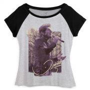Camiseta Raglan Feminina Daniel Cantando em Brotas