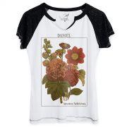 Camiseta Raglan Feminina Daniel Flores