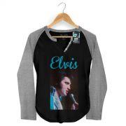 Camiseta Raglan Feminina Elvis Presley 70's Songs