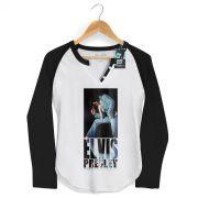 Camiseta Raglan Feminina Elvis Presley Blue Jumpsuit
