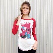 Camiseta Manga Longa Feminina Fresno Ciano Enxergar