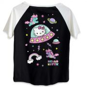 Camiseta Raglan Feminina Hello Kitty Dreams