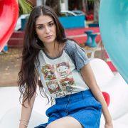 Camiseta Raglan Feminina Hello Kitty Festival Looks