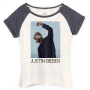 Camiseta Raglan Feminina Justin Bieber You Give Me Purpose
