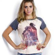Camiseta Raglan Feminina Luan Santana 1977 Dia, Lugar e Hora