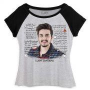 Camiseta Raglan Feminina Luan Santana Cantada Lyrics