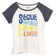 Camiseta Raglan Feminina Saulo Espírito Lindo