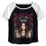 Camiseta Raglan Feminina Sofia Oliveira é Que eu Te Amo Tanto