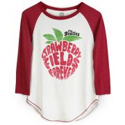 Camiseta Manga Longa Feminina The Beatles Strawberry Fields Forever