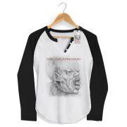 Camiseta Raglan Feminina Titãs Cabeça Dinossauro