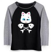 Camiseta Manga Longa Feminina Turma da Mônica Mingau Fish