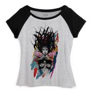 Camiseta Raglan Feminina Wonder Woman Anarchy