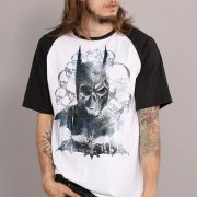 Camiseta Raglan Masculina Batman´s Skull