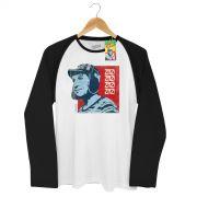 Camiseta Raglan Masculina Chaves Zaz! Zaz! Vintage