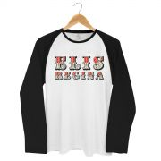 Camiseta Raglan Masculina Elis Regina Falso Brilhante