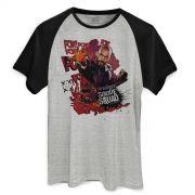 Camiseta Raglan Masculina Esquadrão Suicida Deadshot Pow