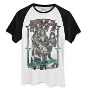 Camiseta Raglan Masculina Kiss US Tour 76