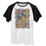 Camiseta Raglan Masculina Maurício de Sousa 80 Anos