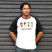 Camiseta Raglan Masculina Turma da Mônica Pixel Lovers