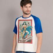 Camiseta Raglan Masculina Wonder Woman Lady of Hope