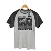Camiseta Raglan Premium Masculina 89FM A Rádio Rock Ramones Never Ends