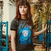 Camiseta Ringer Feminina Fresno Capa Ciano