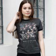 Camiseta Ringer Feminina Kiss Made in USA
