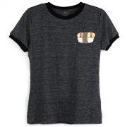 Camiseta Ringer Feminina Monstra Maçã Sushiskate