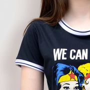 Camiseta Ringer Feminina Power Girls We Can Do It!
