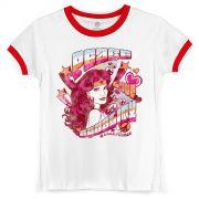 Camiseta Ringer Feminina Wonder Woman Equality
