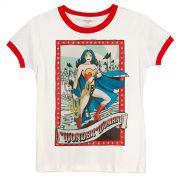 Camiseta Ringer Feminina Wonder Woman Lady of Hope