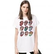 Camisetão Feminino The Rolling Stones Logos