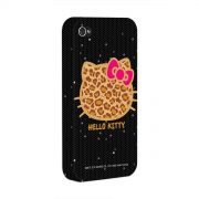 Capa para iPhone 4/4S Hello Kitty Print Fuzzy