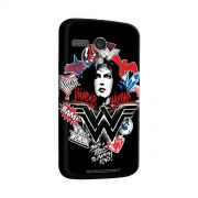 Capa para Motorola Moto G 1 Wonder Woman She´s a Threat