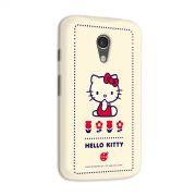 Capa para Motorola Moto G 2 Hello Kitty Flowers