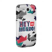 Capa para Samsung Galaxy S3 Thiguinho Hey Mundo! Logo