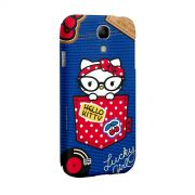 Capa para Samsung Galaxy S4 Hello Kitty Retro Denim