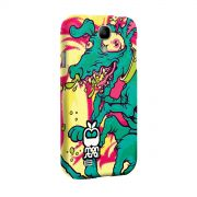 Capa para Samsung Galaxy S4 Monstra Ma�� Crazy Dog