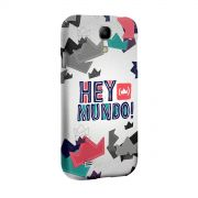 Capa para Samsung Galaxy S4 Thiguinho Hey Mundo! Logo