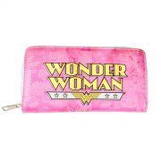 Carteira Feminina com Zíper Wonder Woman Logo