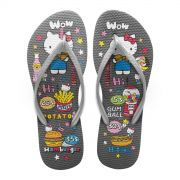 Chinelo Feminino Hello Kitty Fast Food