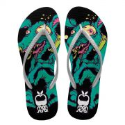 Chinelo Feminino Monstra Maçã Crazy Dog